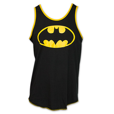Batman Classic Logo Men's Tank Top Shirt -Black