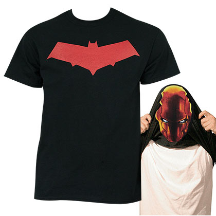 Batman Under the Red Hood Men's Flip Up Shirt