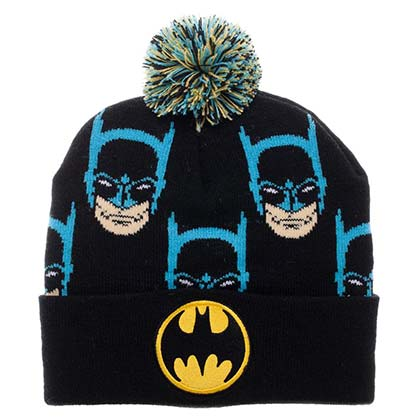 Batman Faces Pom Pom Beanie