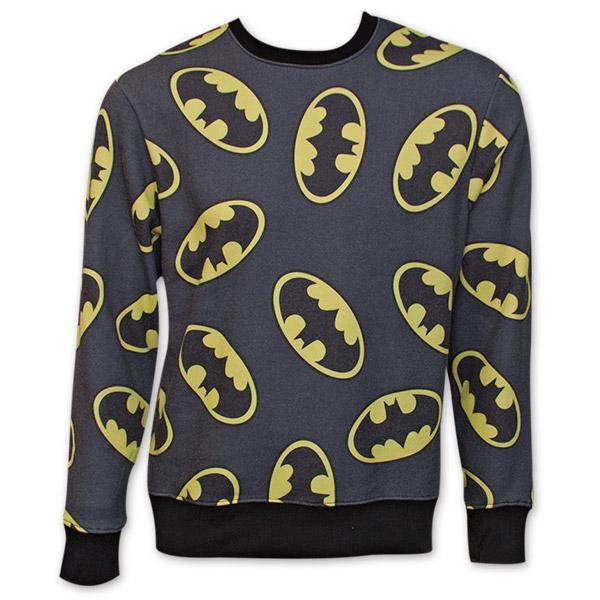 Batman Logo Men's Crew Neck Sweatshirt