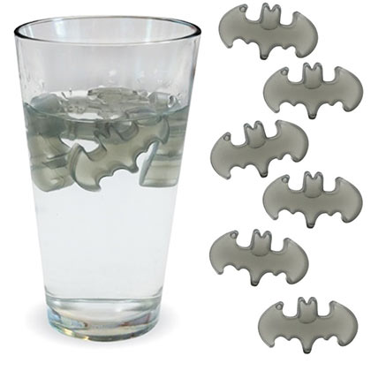 Batman 6 Pack Reusable Plastic Ice Cubes