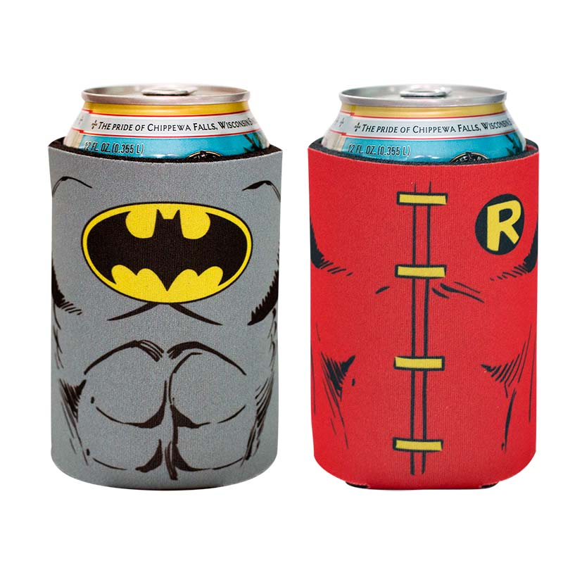 DC Batman And Robin Can Cooler 2 Pack