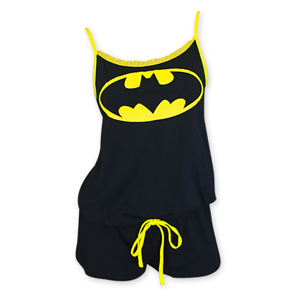 Batman Black Women's Bat Signal Romper