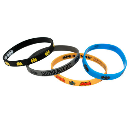 Batman 4 Piece Rubber Bracelet Set