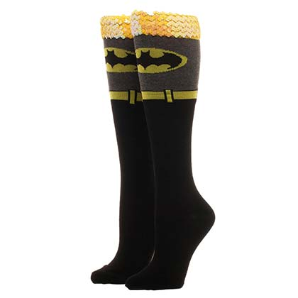 Batman Women's Sequin Knee High Socks