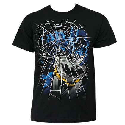 Batman Men's Black Glass Punch T-Shirt