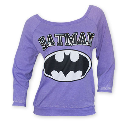 Batman Purple Bat Logo Women's Sweatshirt