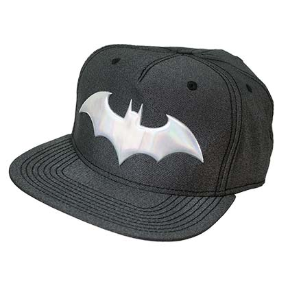 Batman Grey Iridescent Logo Snapback Hat