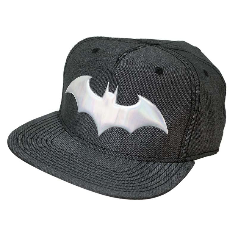 Batman Iridescent Grey Snapback Hat
