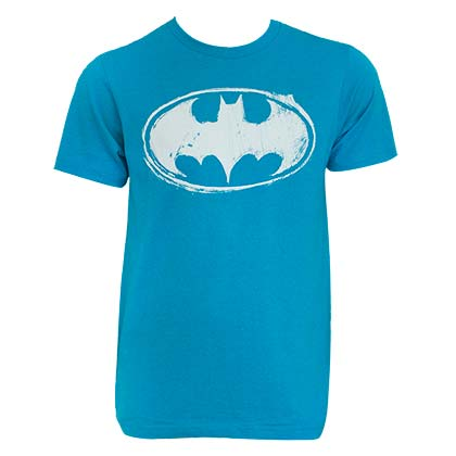 Batman Men's Aqua T-Shirt