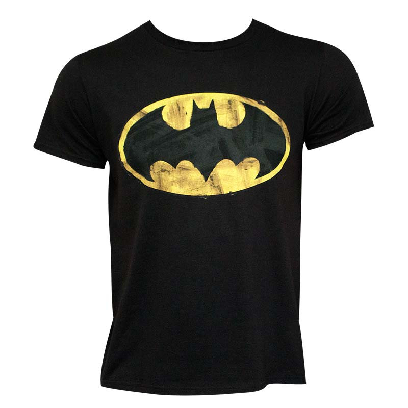 Batman Men's Black Classic Logo 30 Single Super Soft T-Shirt