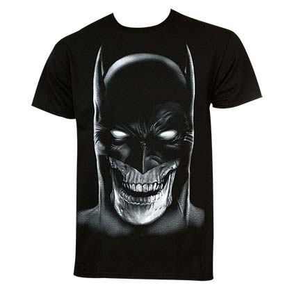 Batman Men's Black Skull T-Shirt