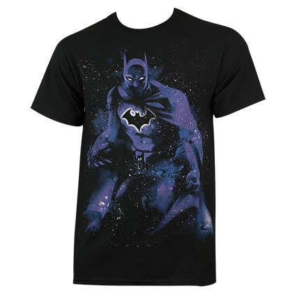 Batman Men's Black Abstract T-Shirt