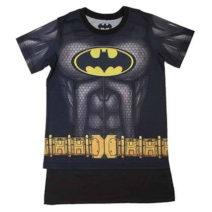 Batman Boys Black Sublimated Costume T-Shirt
