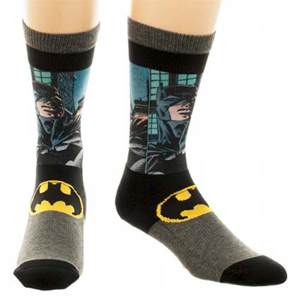 Batman Men's Sublimated Panel Crew Socks