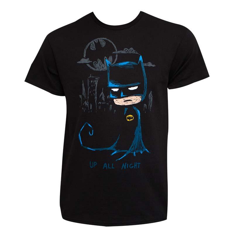 Batman Up All Night Black Tee Shirt