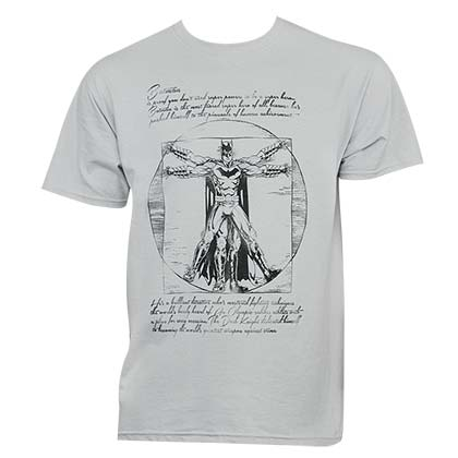 Batman Men's Grey Vitruvian T-Shirt