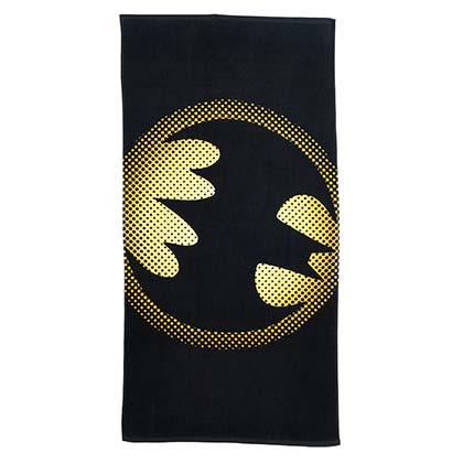 Batman Dot Logo Black Beach Towel