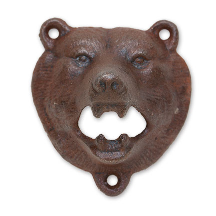 Brown Bear Iron Wall Mount Bottle Opener