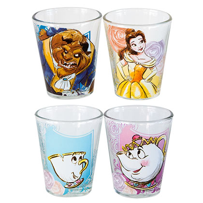 Beauty And The Beast Shot Glass 4-Pack
