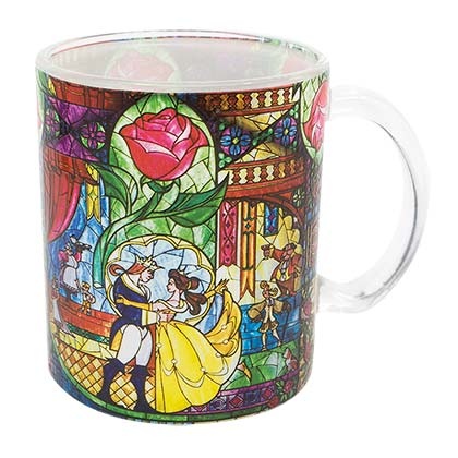 Disney Beauty And The Beast Stained Glass Mug