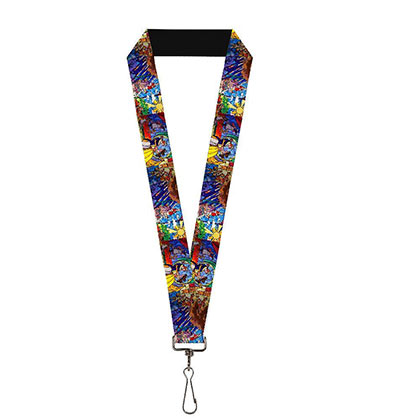 Beauty And The Beast Colorful Stained Glass Lanyard
