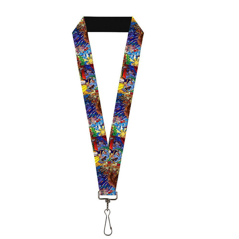Beauty And The Beast Stained Glass Lanyard
