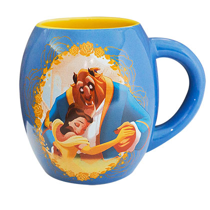 Beauty And The Beast Curved Oval Ceramic Mug