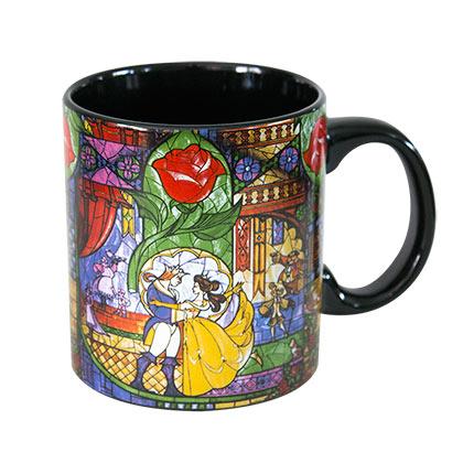 Beauty And The Beast Stained Glass Coffee Mug