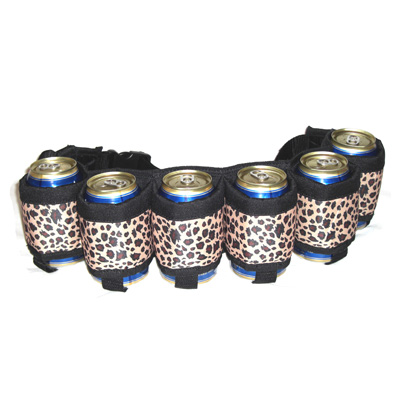 Beer Belt Holster In Leopard Print
