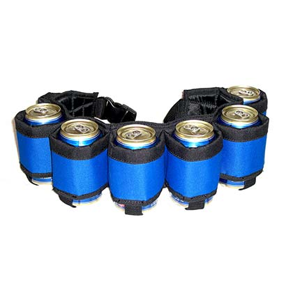 Blue Six Pack Beer Belt
