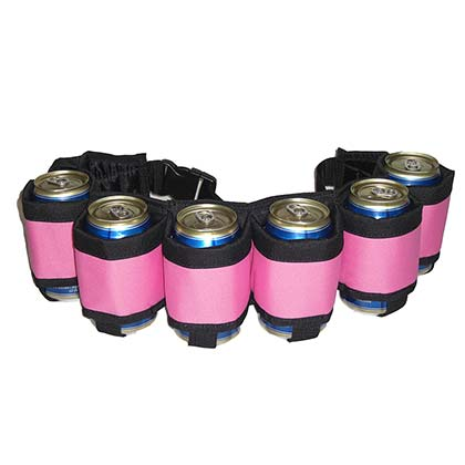 Pink Six Pack Beer Belt