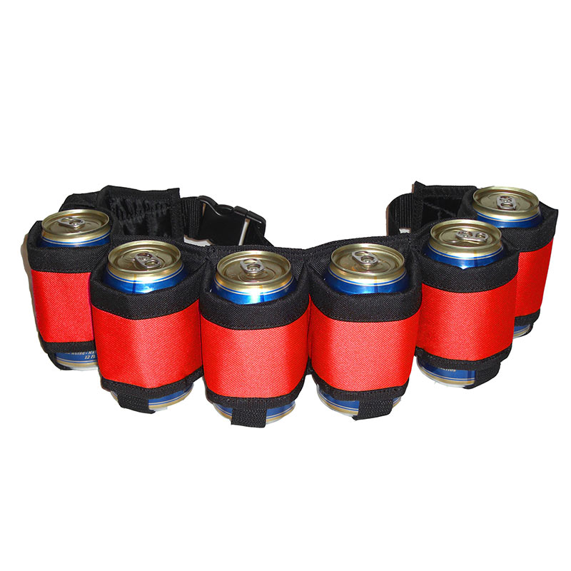 Red Six Pack Beer Belt