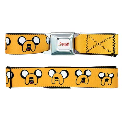 Adventure Time Jake Face Seatbelt Buckle Belt