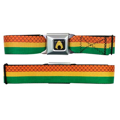 Aquaman Tri-Color Seatbelt Belt