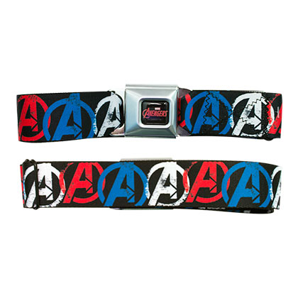 Marvel Avengers Patriotic Logos Seatbelt Belt