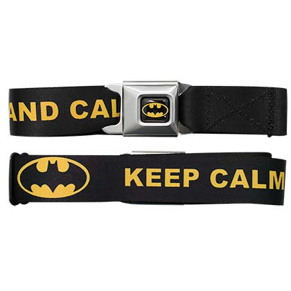 Batman Keep Calm Seatbelt Belt