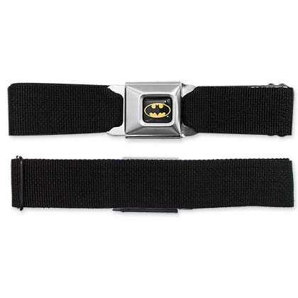 Batman Blank Black Seatbelt Buckle Belt