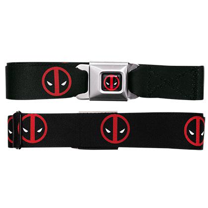 Deadpool Logo Seatbelt Buckle Belt