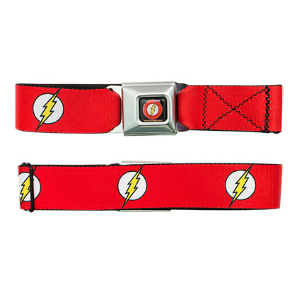 Flash Logo Seatbelt Buckle Belt