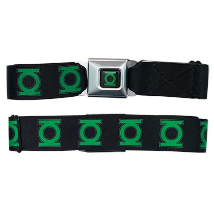 Green Lantern Logo Seatbelt Buckle Belt