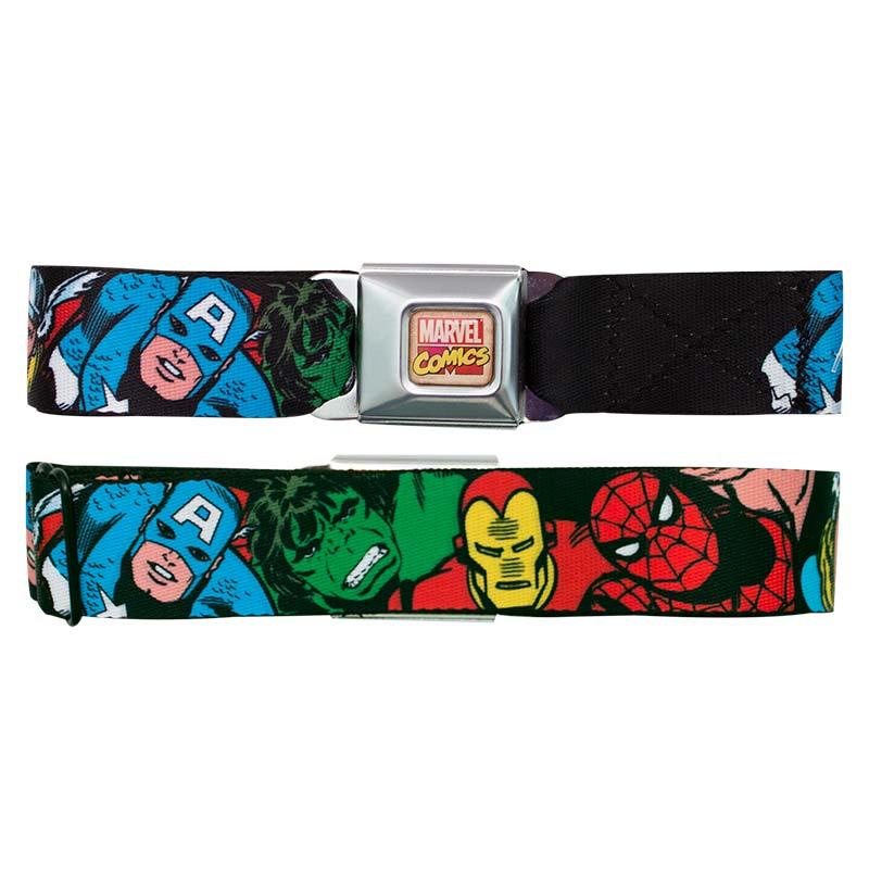 Marvel Avengers Faces Seatbelt Buckle Belt