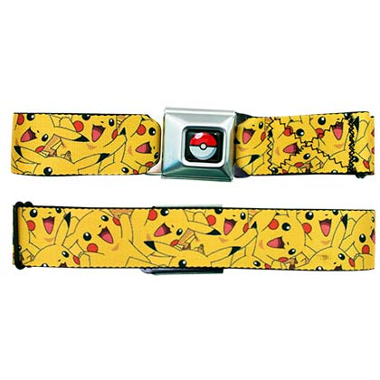 Pokemon Yellow Pikachu Seatbelt Belt