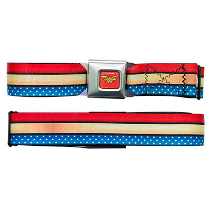 Wonder Woman Patriotic Strip Seatbelt Belt