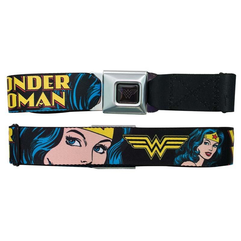 Wonder Woman Face Seatbelt Buckle Belt