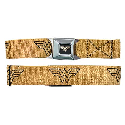 Wonder Woman Gold Seatbelt Buckle Belt