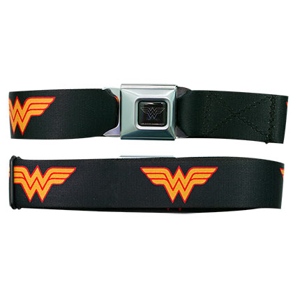 Wonder Woman Plain Black Seatbelt Belt