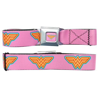 Wonder Woman Logo Pink Seatbelt Belt