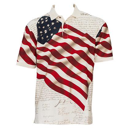 Benji American Flag Polo