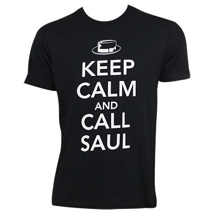 Better Call Saul Keep Calm Men's Black T-Shirt